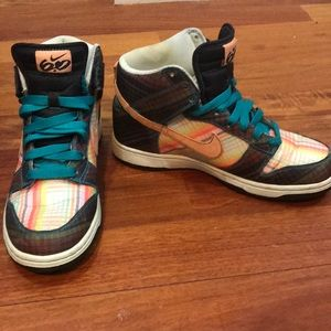 Plaid Nike high tops